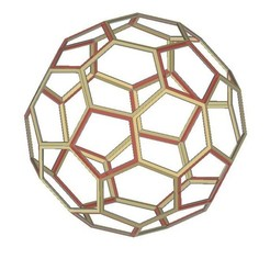 Download free STL files Buckyball, Truncated Icosahedron, Soccer Ball, C60, LGBU