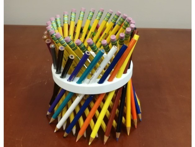 858b2700c9a5f24093555759a0a41045_preview_featured.jpg Download free STL file Math Teachers' Pencil/Straw Holder/ Stand, Hyperboloid, Ruled Surface • 3D printing template, LGBU