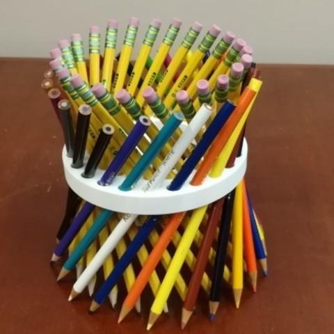 Fichier STL gratuit Crayon pour professeurs de mathématiques/support pour paillettes/support, hyperboloïde, surface lissée., LGBU