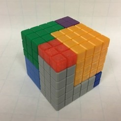 Free 3D print files Cube Dissection Puzzle/ Model for 3^3 + 4^3 +5^3 = 6^3, LGBU