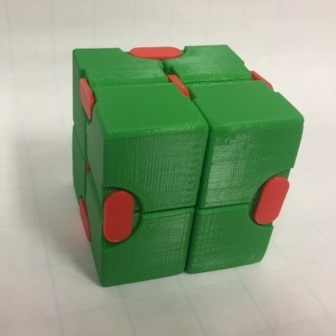 77621d171ae8d68dccb3981ac03649fc_preview_featured.jpg Download free STL file Snapping Hinged Infinity Cube, Magic Cube, Flexible Cube, Folding Cube • 3D printer object, LGBU