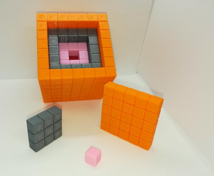 p2.PNG Download free STL file Nesting Cubes, Recursive Cubes, Cubes within Cubes • 3D printer template, LGBU