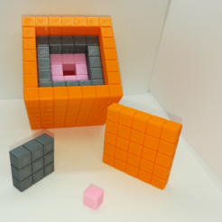 Download free STL file Nesting Cubes, Recursive Cubes, Cubes within Cubes, LGBU
