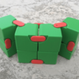 Download free 3D model Snapping Hinged Infinity Cube, Magic Cube, Flexible Cube, Folding Cube, LGBU