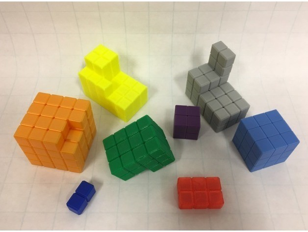 dbee0ed917b6d246c1d24280bbc17880_preview_featured.jpg Download free STL file Cube Dissection Puzzle/ Model for 3^3 + 4^3 +5^3 = 6^3 • 3D printer design, LGBU