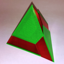 Download free STL files Pyramid Puzzle (Four-piece triangular pyramid), LGBU