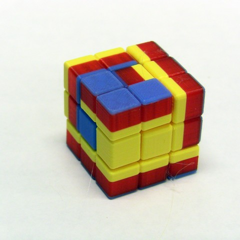 Free 3D printer designs Math Puzzle, Soma Cube, LGBU