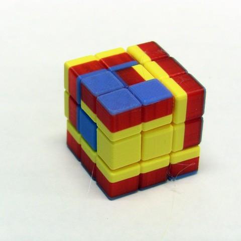 Free 3d printer designs Math Puzzle, Soma Cube, LGBU