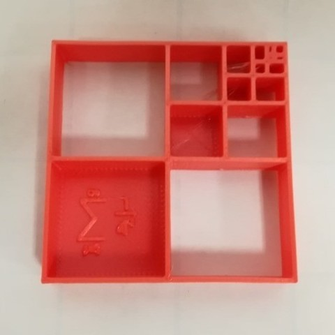 Free 3d printer model Math Model, Series Model for Third of Square or Triangle, LGBU