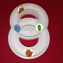 Free 3D printer files Smiley Face Marble Rings, Hungarian Rings, Marble Fun, LGBU