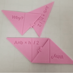 stl Fórmula de área triangular, A= b × h /2, ¿Por qué? gratis, LGBU