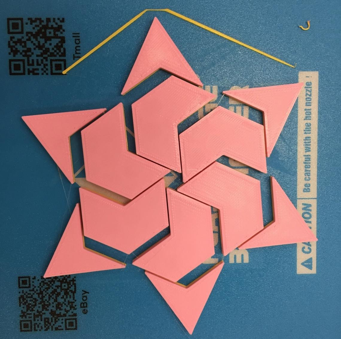 Capture d'écran 2017-12-26 à 15.10.17.png Download free STL file Hexagram, Hexagonal Star, Hexagon Puzzle • 3D printing model, LGBU
