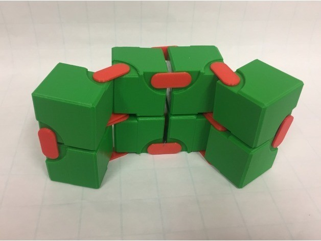 d7cc510be0080ab2eeea63a13d681f49_preview_featured.jpg Download free STL file Snapping Hinged Infinity Cube, Magic Cube, Flexible Cube, Folding Cube • 3D printer object, LGBU