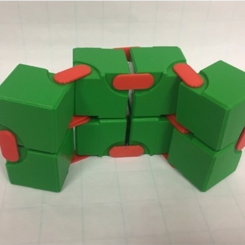 Snapping Hinged Infinity Cube, Magic Cube, Flexible Cube, Folding Cube