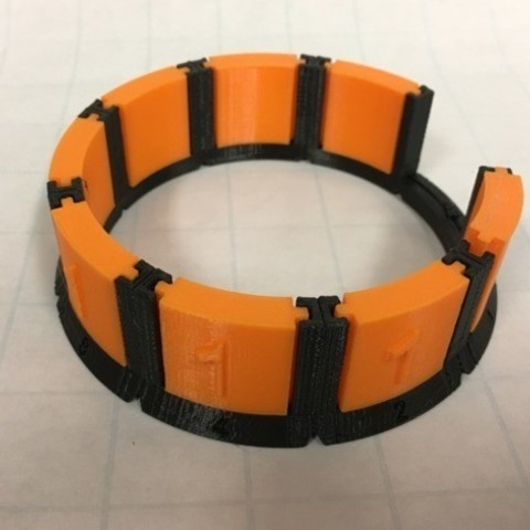 Free 3d printer model Circular Model for Binary Numbers, Binary Thinking, Base Two System, Place Values, LGBU