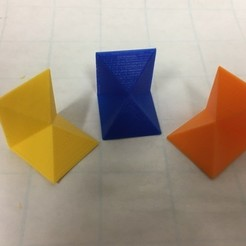 Download free STL file Cube (Thirds) Dissection: Three Congruent Pyramid Combos, LGBU