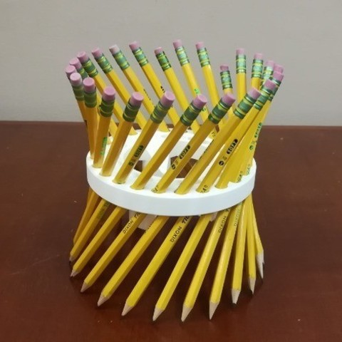 28ce60cfb9c6c210fac92a0625e87d10_preview_featured.jpg Download free STL file Math Teachers' Pencil/Straw Holder/ Stand, Hyperboloid, Ruled Surface • 3D printing template, LGBU