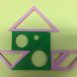 Free STL file Tangram, 七巧板, Recreational math, Pedagogy, LGBU