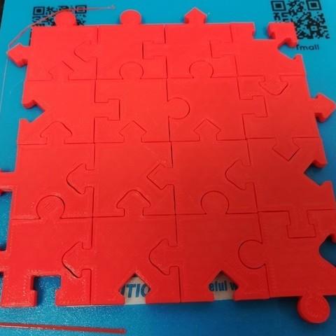 Free 3D print files Jigsaw Puzzle, 16 Distinct Pieces, Shapes &