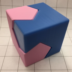 Download free 3D printing templates Cube/Sphere Dissection, Kawai Tsugite Style, Cube Joint, Math Puzzle, LGBU