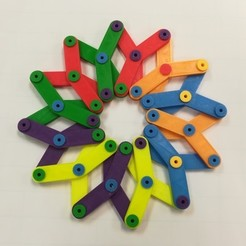 Free STL file Make Sense of the Hoberman Sphere / Circle, Linkage, LGBU
