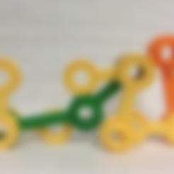 Free 3D model Double Spinning Linkage Bars, Geometric Construction, Pendulum, LGBU