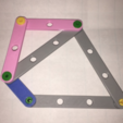 Free 3d printer designs Snap Linkage Bars, Math Models, LGBU