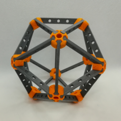 Download free 3D printer designs Icosahedron Model, Pedagogically Stretched, LGBU