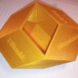 Free 3d print files Bilinski Dodecahedron, Golden Rhombus, Golden Ratio, LGBU