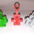 Free stl Key chain Knot Cross Puzzle, OCC, Three Pieces, Kong Ming Lock, LGBU