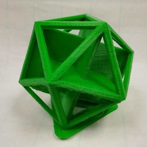 Télécharger fichier 3D gratuit Rectangles d'or dans un icosaèdre, LGBU