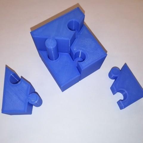 Descargar modelos 3D gratis Cubo Rompecabezas, Deslizante, Seis Piezas, LGBU