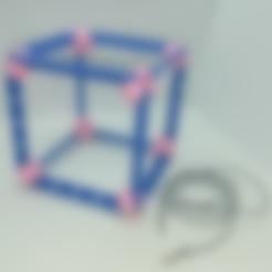 CubeVertex_hole_pt2mmTolerance.stl Download free STL file Cube Model, Pedagogically Stretched • 3D printing design, LGBU