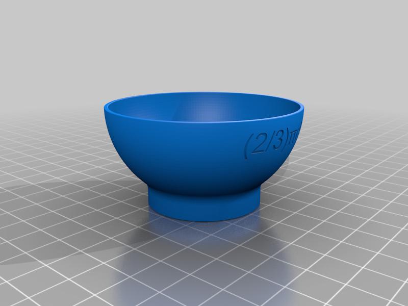 HalfSphereBowl.png Download free STL file Volume of a Sphere, Cavalieri's Principle, Cups • 3D printable design, LGBU