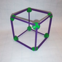 Free 3D printer files Make a Cube / Hexahedron: Vertex and Edge, Platonic Solid, LGBU