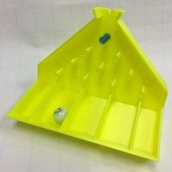 Download free STL file Plinko with Replaceable Pins/Pegs (Galton Board, Binomial Distribution, Bean Machinese), LGBU