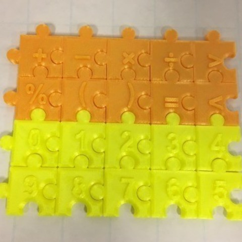 Download free 3D printer files Jigsaw Number Pieces, Puzzle