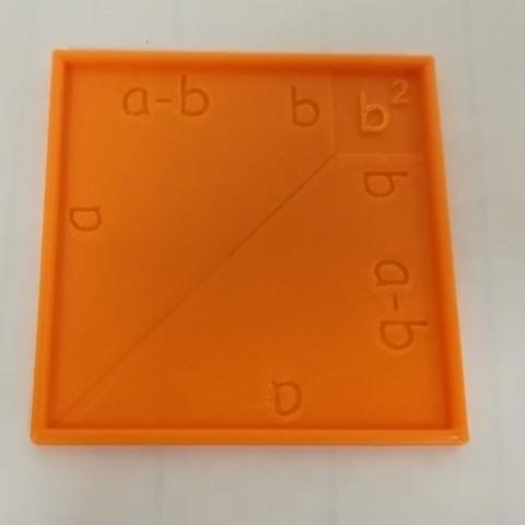 Free STL a^2 - b^2 = (a+b)(a-b), Algebraic Formula, LGBU