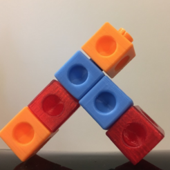 Descargar diseños 3D gratis Cubo a presión, enclavamiento, matemáticas, cubos de presión, LGBU