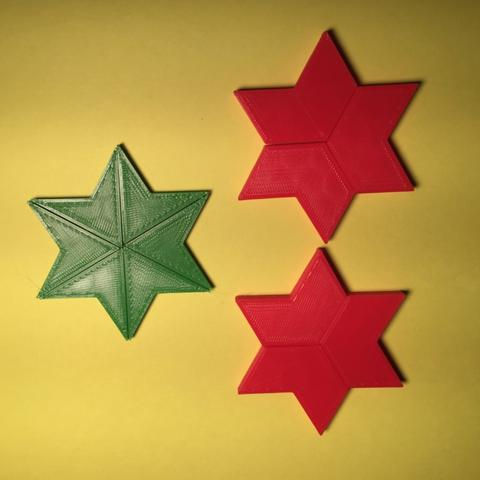 Capture d'écran 2017-12-26 à 15.10.28.png Download free STL file Hexagram, Hexagonal Star, Hexagon Puzzle • 3D printing model, LGBU
