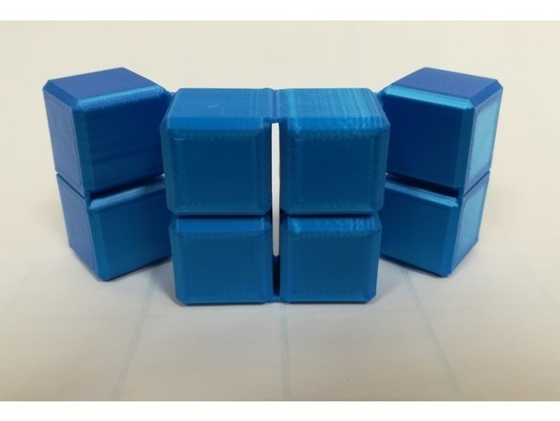 dbee0ed917b6d246c1d24280bbc17880_preview_featured.jpg Download free STL file Infinity Cube, Magic Cube, Flexible Cube, Folding Cube for Flexible TPU filament • 3D printing template, LGBU
