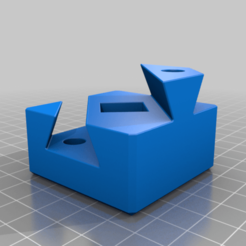 dovetailBoxOneHalf.png Download free STL file Dovetailed Box Puzzle, Cube Dissection • 3D printing template, LGBU