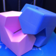 Free 3D printer file Cube/Sphere Dissection, Kawai Tsugite Style, Cube Joint, Math Puzzle, LGBU