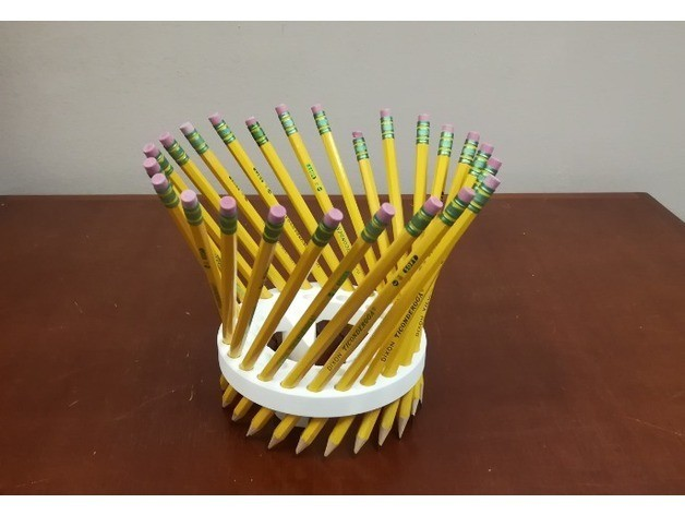 77621d171ae8d68dccb3981ac03649fc_preview_featured.jpg Download free STL file Math Teachers' Pencil/Straw Holder/ Stand, Hyperboloid, Ruled Surface • 3D printing template, LGBU