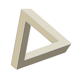 d3.PNG Download free STL file Penrose Triangle: Three Pieces • 3D printable template, LGBU