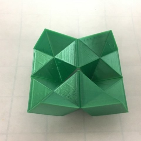 77621d171ae8d68dccb3981ac03649fc_preview_featured-1.jpg Download free STL file Flexible Stellated Rhombic Dodecahedron Half, Cube Dissection, Rectangular Prism • 3D printable model, LGBU