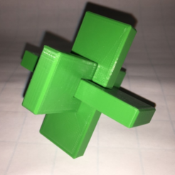 Descargar modelo 3D gratis Puzzle de nudo de madera, OCC, tres piezas, Kong Ming Lock, LGBU