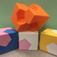 Free 3D model Cube/Sphere Dissection, Kawai Tsugite Style, Cube Joint, Math Puzzle, LGBU