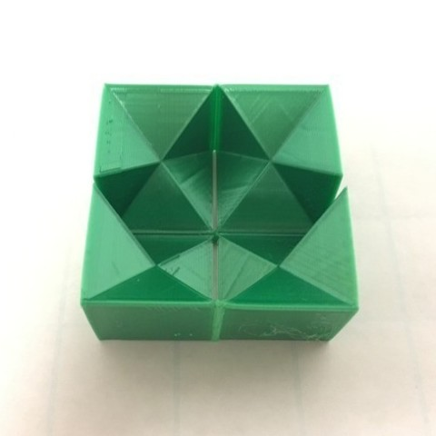 dbee0ed917b6d246c1d24280bbc17880_preview_featured-1.jpg Download free STL file Flexible Stellated Rhombic Dodecahedron Half, Cube Dissection, Rectangular Prism • 3D printable model, LGBU