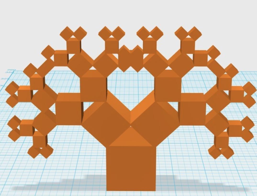 Capture d'écran 2017-12-26 à 14.32.11.png Download free STL file Pythagoras Tree (1:1:Sqrt2) • 3D printable template, LGBU